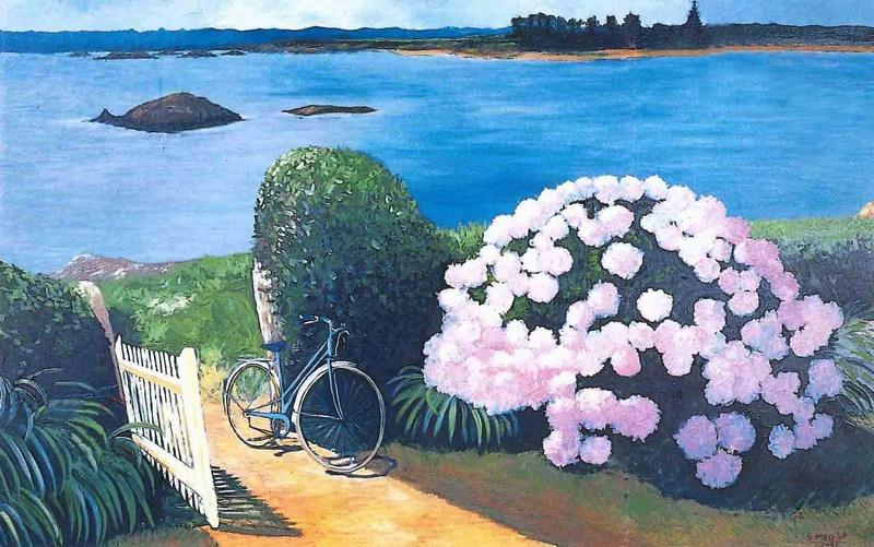 * une toile sur la toile * - Page 14 Klus_umun-serge-maudet-1204-la_bicyclette_bleue-a